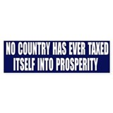 Tax Prosperity Bumper Car Sticker