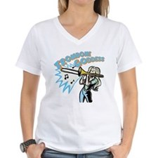 Trombone Goddess Women's Shirt - V-Neck