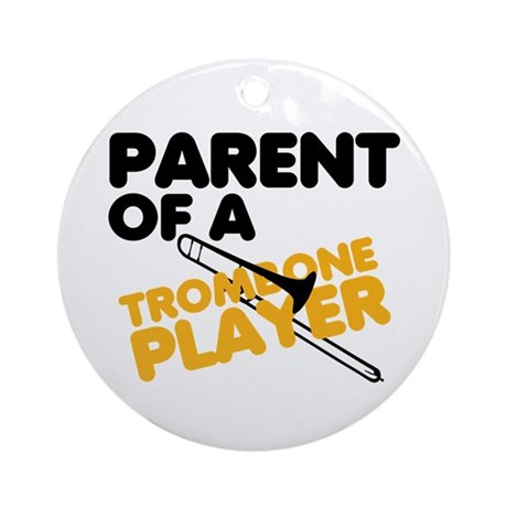 Trombone Parent Ornament (Round)