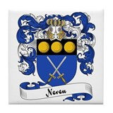 Neveu Family Crest Tile Coaster