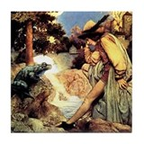 Maxfield Parrish Frog Prince Tile Coaster