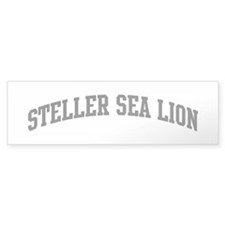 Steller Sea Lion (curve-grey) Bumper Sticker