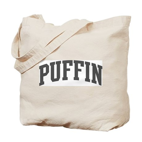 Puffin (curve-grey) Tote Bag
