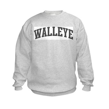 Walleye (curve-grey) Kids Sweatshirt