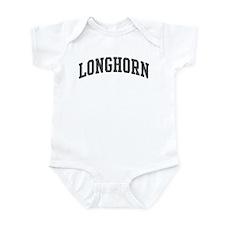 Longhorn (curve-grey) Infant Bodysuit