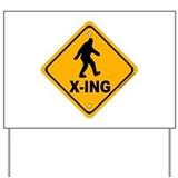 Bigfoot Crossing Yard Sign