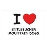 I love ENTLEBUCHER MOUNTAIN DOGS Postcards (Packag