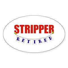Retired Stripper Oval Sticker (50 pk)