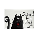 owned by a black cat Rectangle Magnet (10 pack)