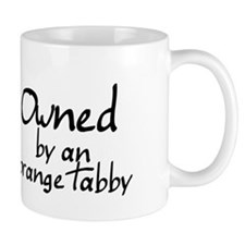 owned by an orange tabby Small Mug