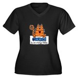 owned by an orange tabby Women's Plus Size V-Neck