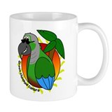 Cartoon Green Cheek Conure Mug