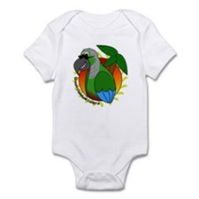 Cartoon Green Cheek Conure Infant Bodysuit