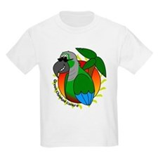 Cartoon Green Cheek Conure T-Shirt