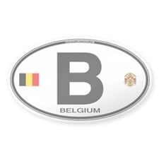 Belgium Euro Oval Oval Decal