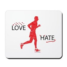 Men's Love Hate Running Washed Mousepad
