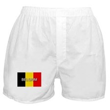 Belgium Flag with Label Boxer Shorts