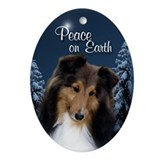Sweet Sheltie Peace Ornament