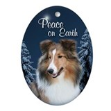 Sheltie Girl Peace Ornament