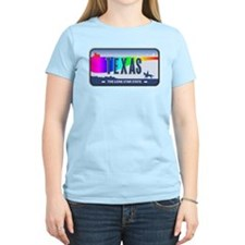 Texas Rainbow State Plate T-Shirt