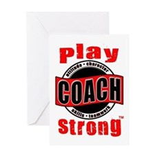 Play Strong/Thanks Coach! Greeting Card #1311