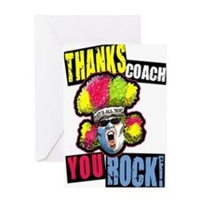 Crazy Thanks Coach! Greeting Card # 1310