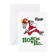 Santa Hoops #1014 Greeting Cards (Pk of 10)