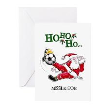 Santa Soccer #1015 Greeting Cards (Pk of 10)