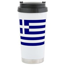 Greek Flag Ceramic Travel Mug