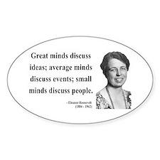 Eleanor Roosevelt 5 Oval Decal