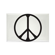 Cute Peace pins Rectangle Magnet
