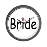 Bride (Pink Hearts) Wall Clock