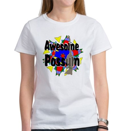 Awesome Possum Kaleidoscope Women's T-Shirt