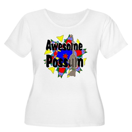 Awesome Possum Kaleidoscope Women's Plus Size Scoo