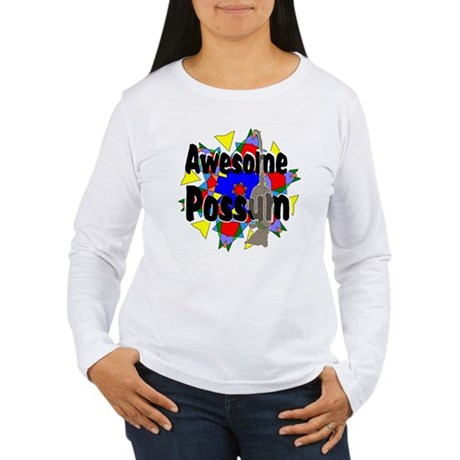 Awesome Possum Kaleidoscope Women's Long Sleeve T-