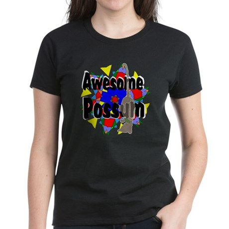 Awesome Possum Kaleidoscope Women's Dark T-Shirt