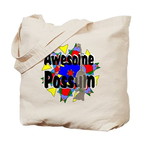 Awesome Possum Kaleidoscope Tote Bag