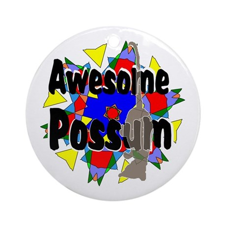 Awesome Possum Kaleidoscope Ornament (Round)