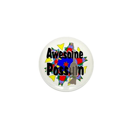 Awesome Possum Kaleidoscope Mini Button