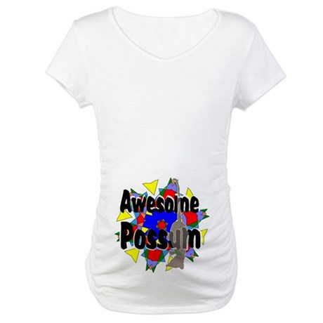 Awesome Possum Kaleidoscope Maternity T-Shirt