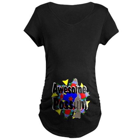 Awesome Possum Kaleidoscope Maternity Dark T-Shirt