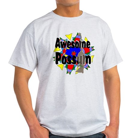Awesome Possum Kaleidoscope Light T-Shirt