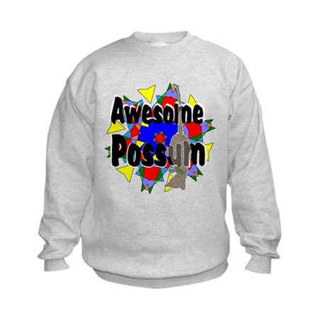 Awesome Possum Kaleidoscope Kids Sweatshirt