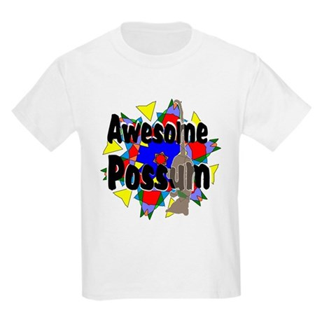 Awesome Possum Kaleidoscope Kids Light T-Shirt