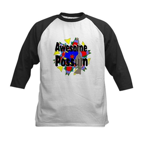 Awesome Possum Kaleidoscope Kids Baseball Jersey