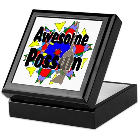 Awesome Possum Kaleidoscope Keepsake Box