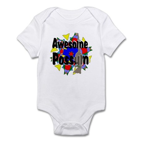 Awesome Possum Kaleidoscope Infant Bodysuit