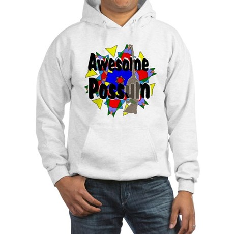 Awesome Possum Kaleidoscope Hooded Sweatshirt