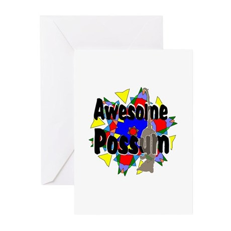 Awesome Possum Kaleidoscope Greeting Cards (Pk of