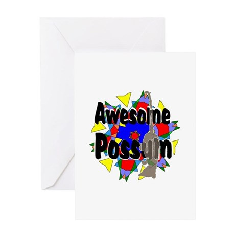 Awesome Possum Kaleidoscope Greeting Card